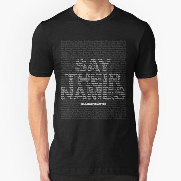 Say Their Names: Black Lives Matter Slim Fit T-Shirt