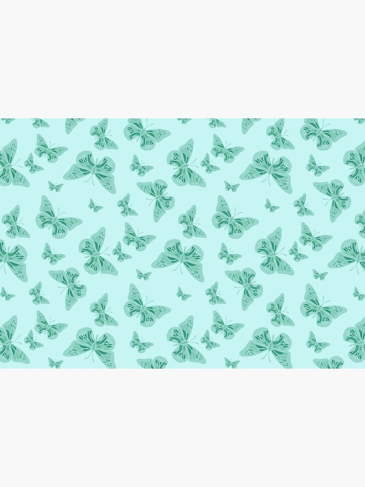 Pretty Teal and Turquoise Butterflies Pattern by RootSquare