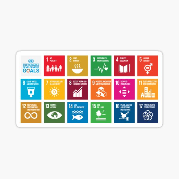 The Sustainable Development Goals - English Version (All profits are for a reforestation project.) Sticker
