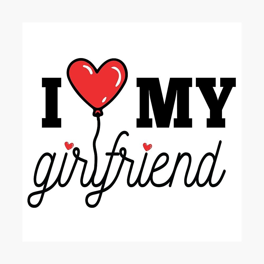 "My Gf Com i love my gf girlfriend day"" postertaamteemtees | redbubble"