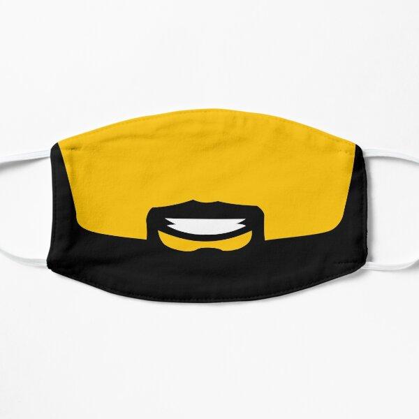 Visage jaune barbe et sourires Masque sans plis
