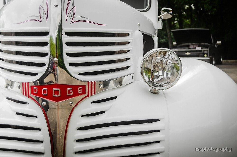 Vintage old Dodge Truck up close.   by nscphotography