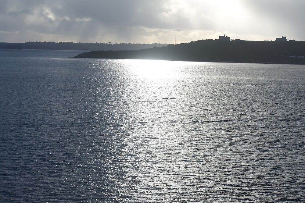 sun shining on the river Fal. by victor55