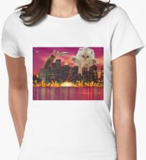 Cat Dooms Day Womens Fitted T-Shirt