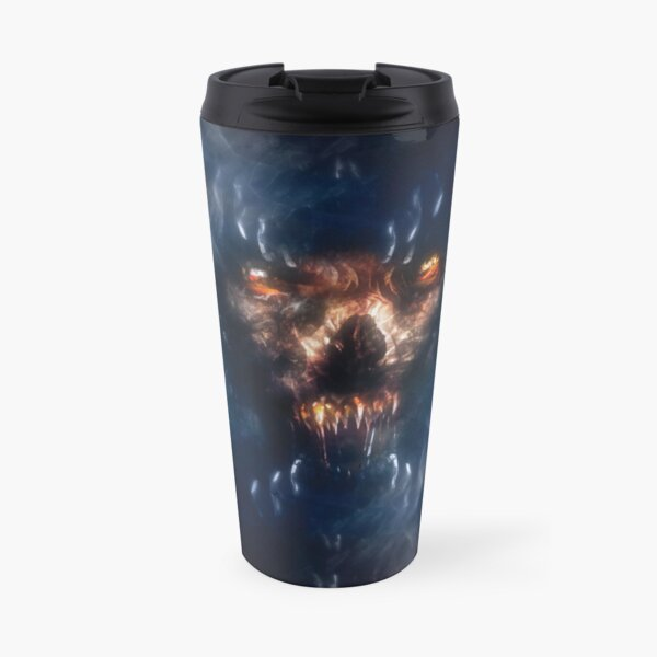 Creepy Wolf Skull  Travel Mug