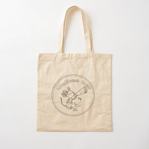 LoudMouse Crew Logo Cotton Tote Bag
