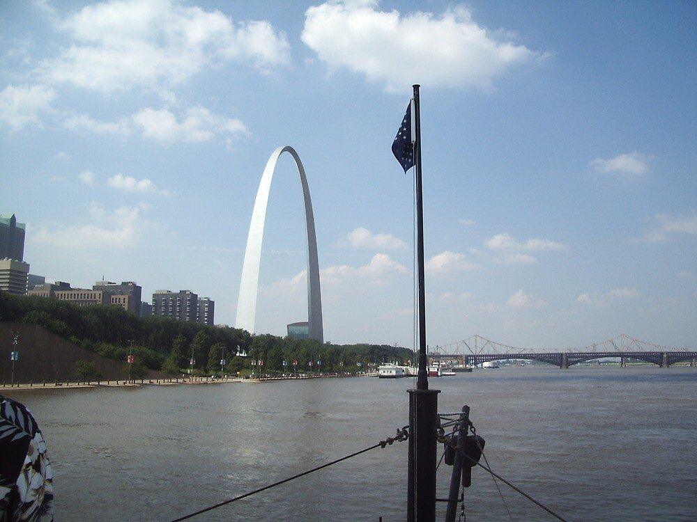 St. Louis from the Mississippi River 1 by travisferrell