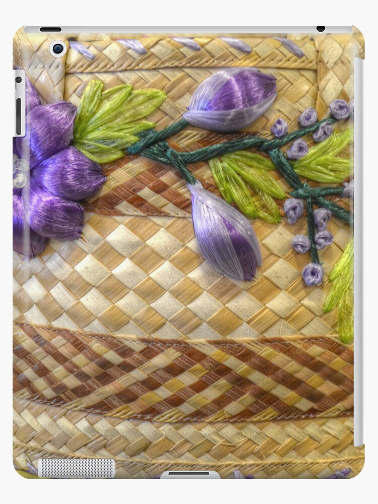 Bahamian Straw Bag   iPad Case by Jeremy Lavender Photography