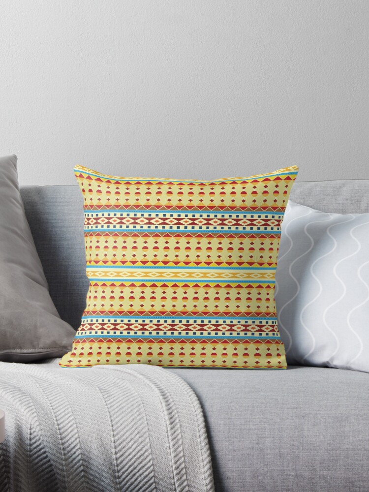 Aztec textiles Throw Pillow