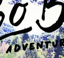 Vintage Camping Adventure Wanderlust Typography Photo Sticker