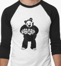 AAHIPHOP Love/Hate Bear Men's Baseball ¾ T-Shirt