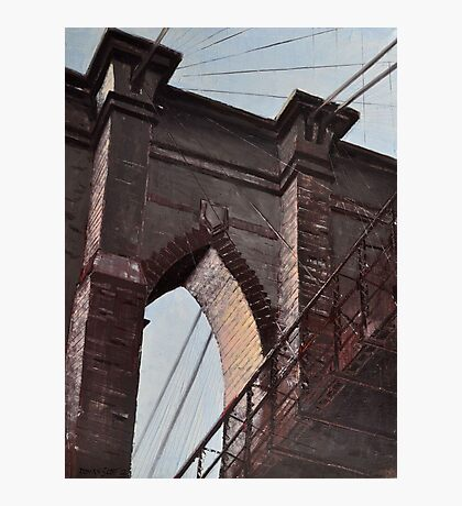 Brooklyn Bridge, Stone and Iron Photographic Print
