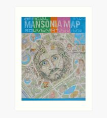 Mansonia Map Art Print