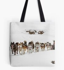 Dog Sledding Tote Bag