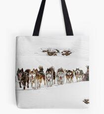 Dog Sledding Tote Bag