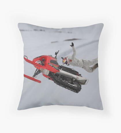 Snowmobile Tricks Throw Pillow