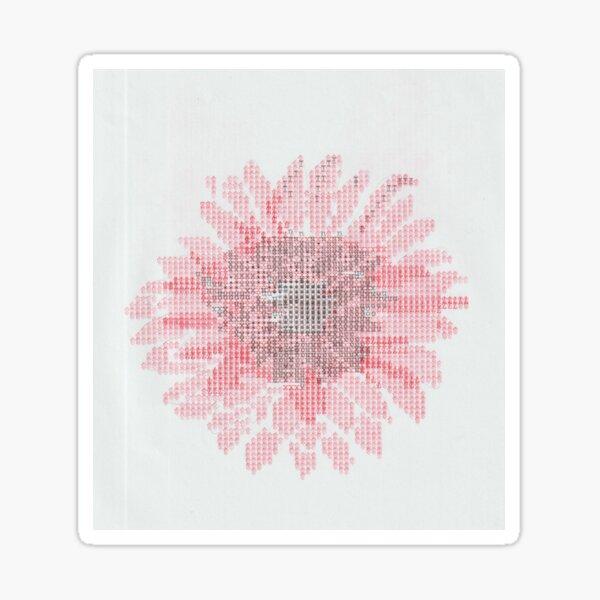 Typewriter Art Gerbera Flower Sticker