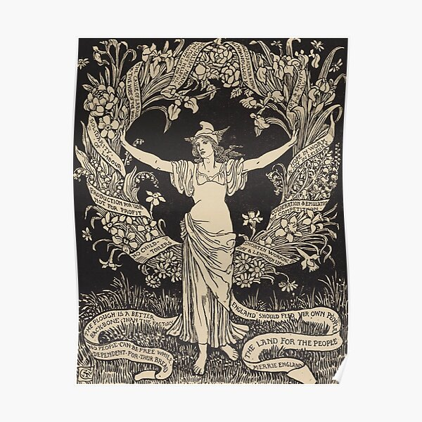 A Garland for May Day by Walter Crane, 1895 Poster