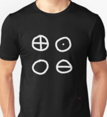 Classical element Earth Water Air and Fire symbol Unisex T-Shirt