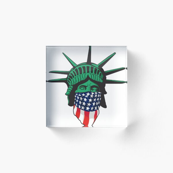 Statue of Liberty USA Acrylic Block