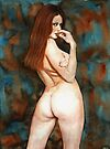 Red-haired Beauty - Dangerous Look by Boris Ivkov