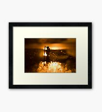 Night hike Framed Print