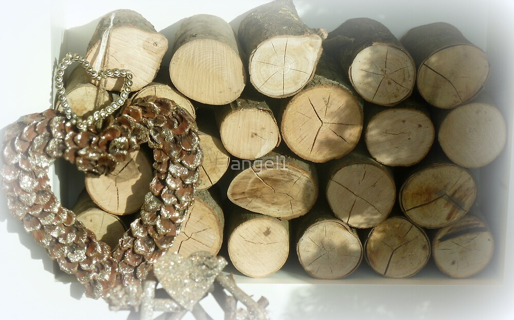 Logs and pineheart by ©The Creative  Minds