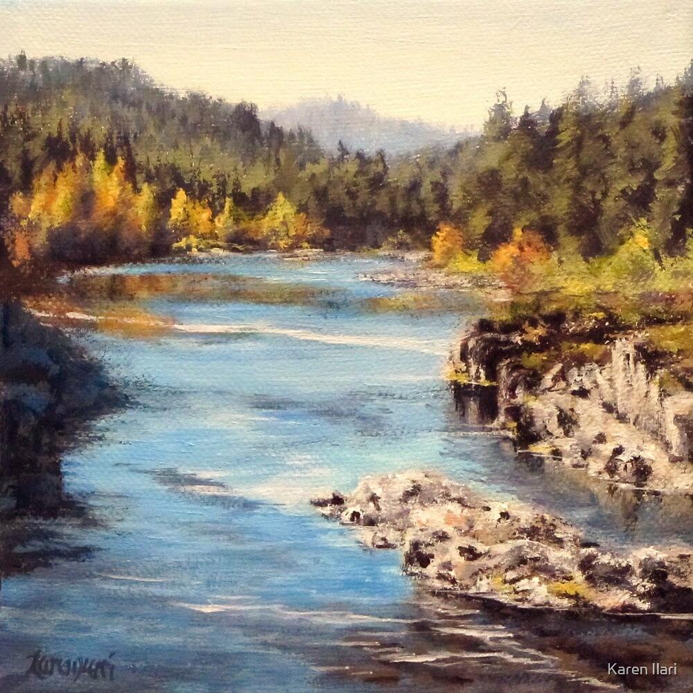 Colliding Rivers Fall by Karen Ilari