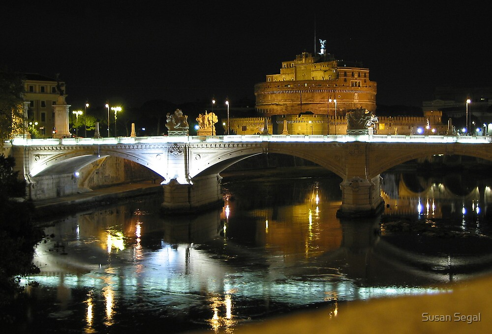 St Angelo, Rome, Italy by Susan Segal