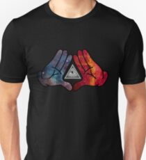 Space Illuminati Hands Diamond Unisex T-Shirt