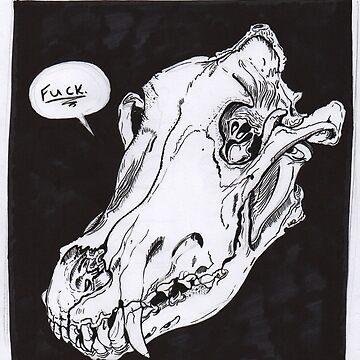 Wolf Skull by kimduran