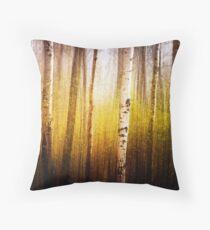 Magic Birch Throw Pillow