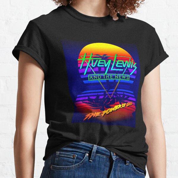 Huey Lewis El poder del amor Retro 80s Synthwave Homenaje Camiseta clásica