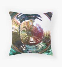 Through Glass Brightly Throw Pillow
