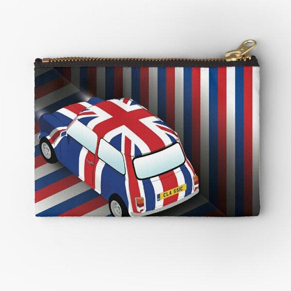 Classic British Car Union Jack Zipper Pouch