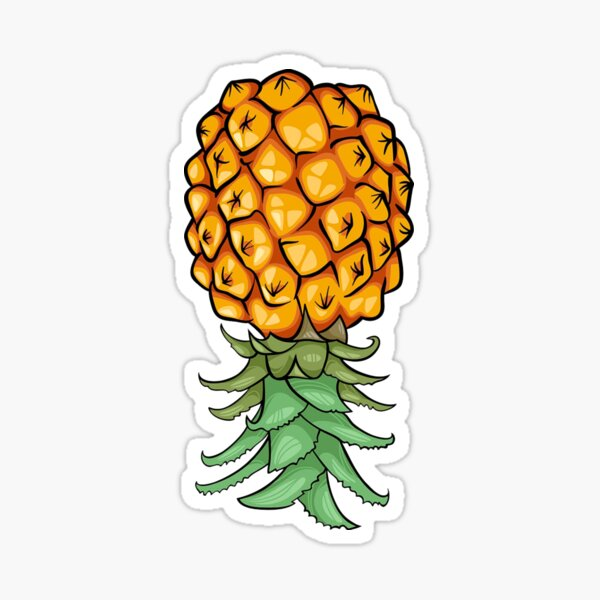 Upside Down Pineapple Sticker