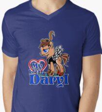 My Little Daryl Pony Men's V-Neck T-Shirt