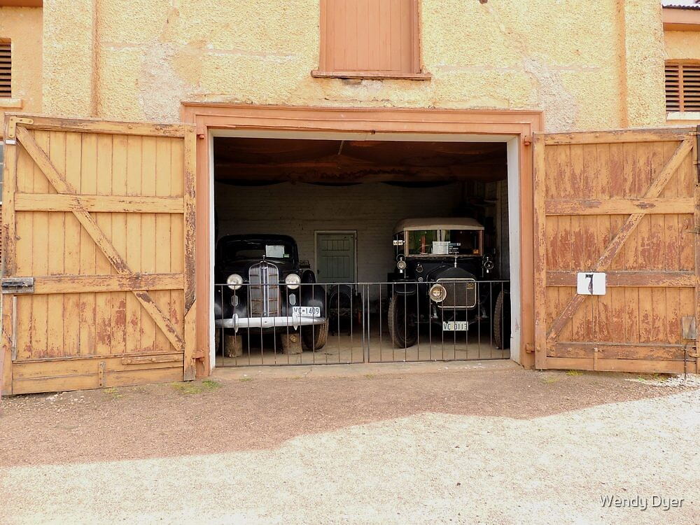 Woolmers Cars in the Coach House - - A World Heritage Listed Site in Tasmania by Wendy Dyer