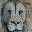 Lion tinted charcoal Iphone Case by gogston