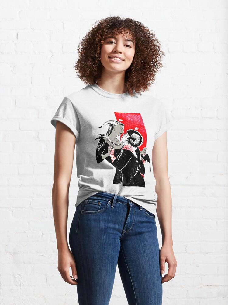 Alternate view of Devil Girlfriends Classic T-Shirt