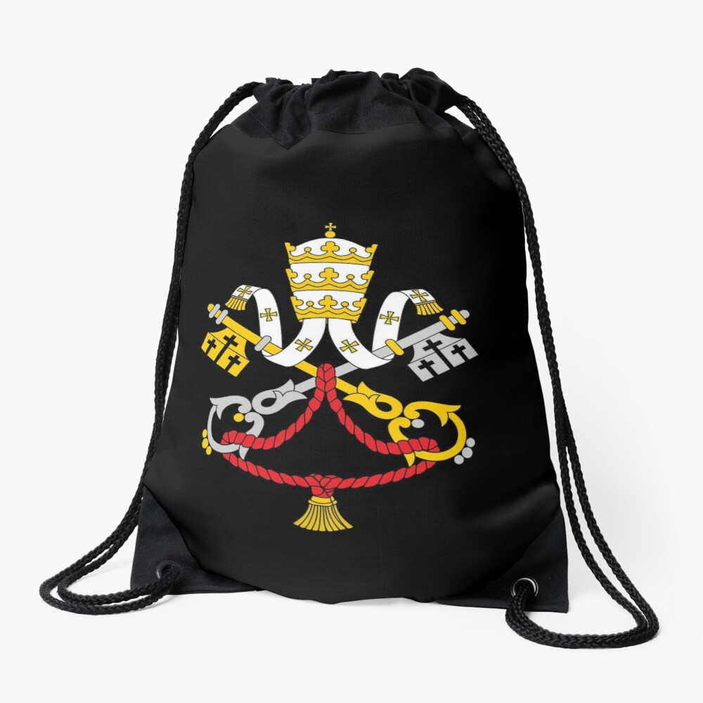 One Holy Catholic Church - Black Drawstring Bag