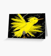 Zapdos Through the Storm Greeting Card