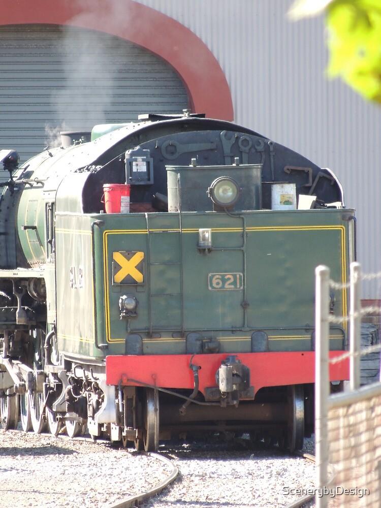Steam Ranger Warming Up by ScenerybyDesign