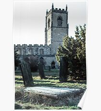 Grave at St Oswald's Durham 19810104 0024 Poster