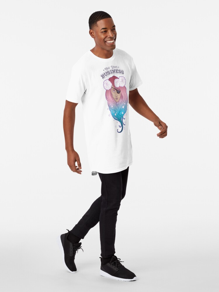 Alternate view of Not Your Business - Trans Pride - Orgullo Trans Long T-Shirt