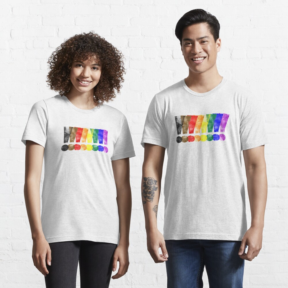 Distressed Philly LGBTQ Pride Whee! Exclamation Points Essential T-Shirt