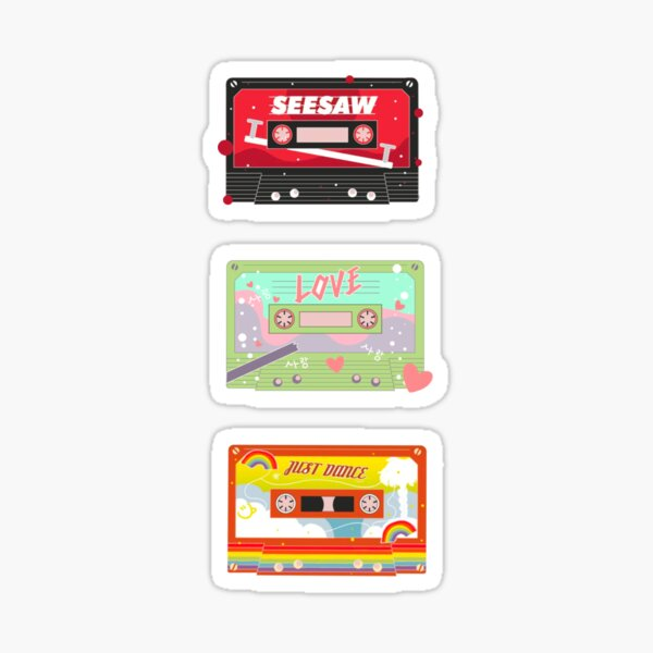 BTS Trivia, Just Dance, Seesaw Casette Tape Stickers PT 2 Sticker