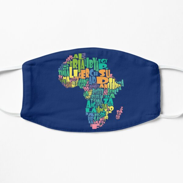 African Continent Map Cloud Mask