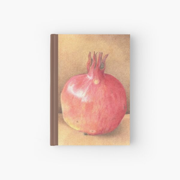 pomegranate - coloured pencil Hardcover Journal