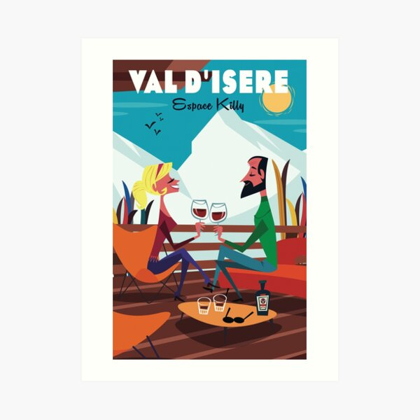 Val d'Isere poster Art Print